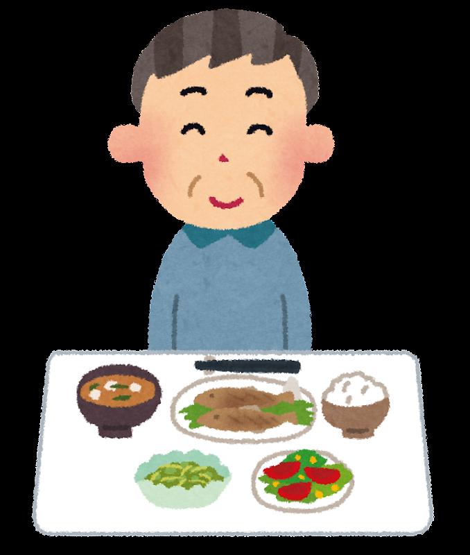 低カロリーな食事のイラスト(生活習慣病) | かわいいフリー素材集 いらすとや