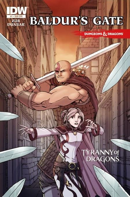 cover art for issue 1 Baldur's Gate
