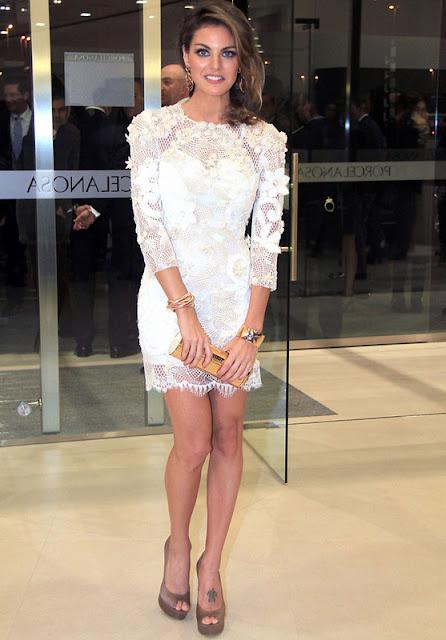 Complementos vestido blanco roto
