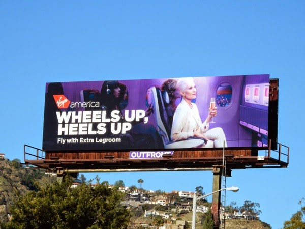 Virgin America Heels up billboard