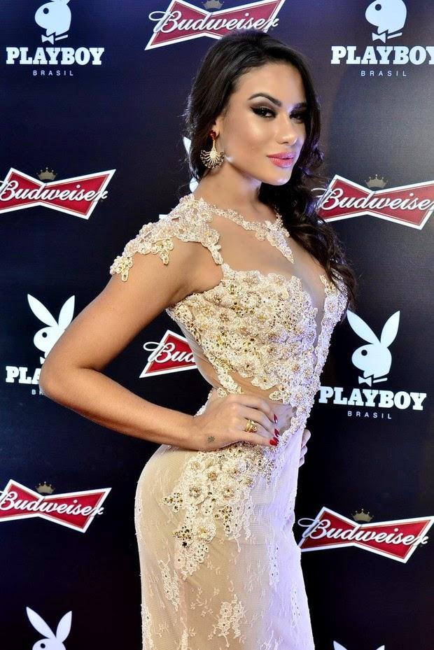 Patricia ex-affair de Neymar, é a capa deste mês da Playboy