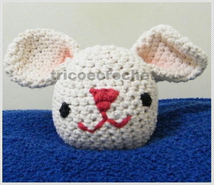 Coelho Amigurumi Receita : Tric� e croch� knitting and crochet coelho da p�scoa em