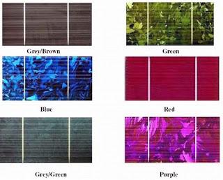 paneles solares de color