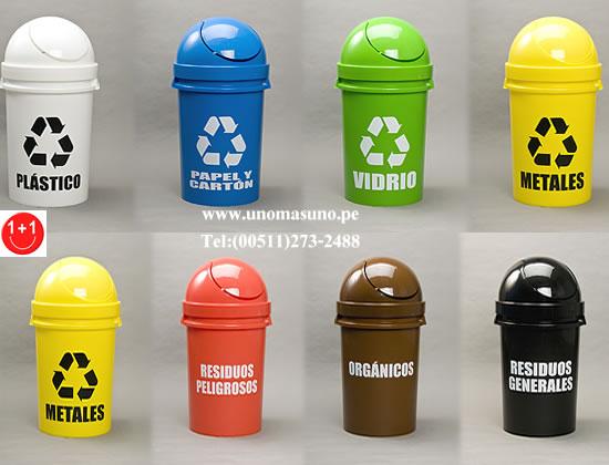 Colores que se deben emplear para el reciclaje de la basura colores del reciclaje - Contenedores de basura para reciclaje ...