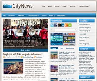 CityNews Free Blogger Template