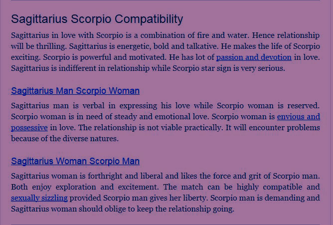 Compatibility Man Scorpio Love Sagittarius Woman And