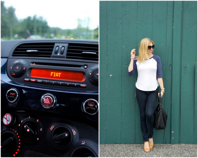 The Fiat 500 from Enterprise Car Share and boston fashion blogger