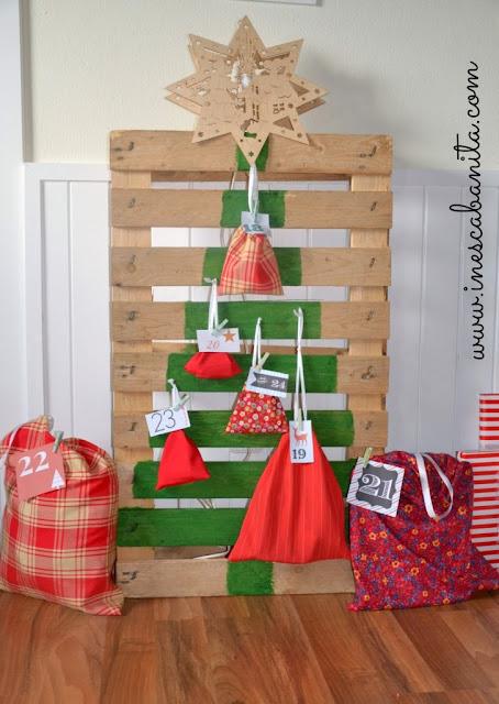 Advent calendar pallets christmas tree