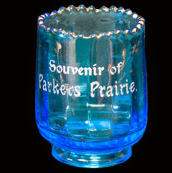 Antique EAPG Blue Tiny Optic Toothpick Holder, Jefferson Glass