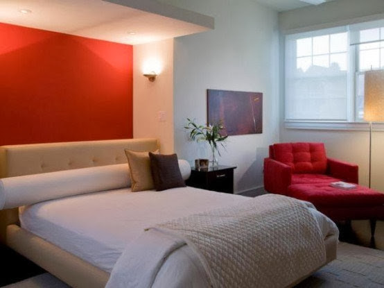 red bedroom painting, red bedroom furniture