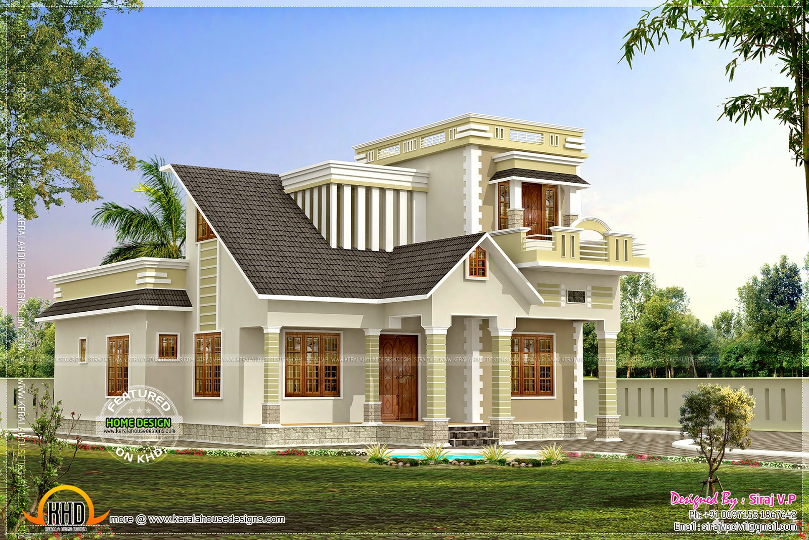 Flat Roof 2500 Square Feet House Keralahousedesigns