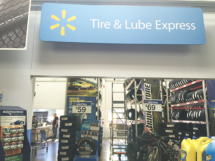 walmart tire & lube express