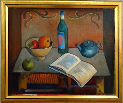 Роман Сельский, Натюрморт с книгою, 1926