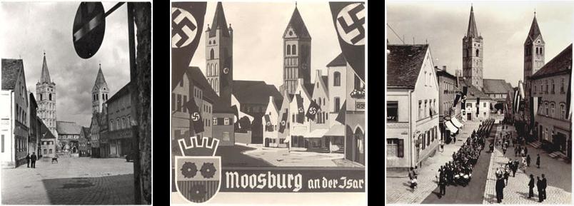 """Moosburg an der Isar (amtlich: Moosburg a.d. Isar) ist die älteste Stadt im oberbayerischen Landkreis Freising. Sie liegt 45 Kilometer nordöstlich von München auf halber Strecke zwischen der Großen Kreisstadt Freising und der niederbayerischen Bezirkshauptstadt Landshut in einer Art Insellage zwischen der Isar und deren Nebenfluss Amper. Moosburg erhielt im Jahre 1331 – noch vor Freising (1359) – das Stadtrecht. Heute ist es ein Mittelzentrum in der Region München.  Der internationale Flughafen München """"Franz Josef Strauß"""" ist 15 Kilometer entfernt und über die Autobahnausfahrt Moosburg-Süd an der A92 zu erreichen. Als Regionalexpress-Haltepunkt im Münchner Verkehrs- und Tarifverbund (MVV) ist die Stadt ein beliebter Wohnort für 4.755[2] Pendler nach München, Freising, Landshut und zum Flughafen. Andererseits ist die Stadt als Standort verschiedener Industriebetriebe aber auch das Ziel von 3.108[2] Pendlern aus dem Umland und hat selbst 1.718 sozialversicherungspflichtig Beschäftigte. Es gibt in der Stadt neben chemischer, elektrotechnischer und der Nahrungsmittelindustrie auch eine Maschinenfabrik.  Inhaltsverzeichnis      1 Geografie         1.1 Stadtteile         1.2 Nachbarorte         1.3 Mittelzentrum         1.4 Naturschutzgebiete     2 Geschichte         2.1 Frühmittelalter         2.2 Hochmittelalter         2.3 Spätmittelalter         2.4 19. Jahrhundert bis zur Gegenwart         2.5 Eingemeindungen         2.6 Einwohnerentwicklung     3 Wappen     4 Kultur und Sehenswürdigkeiten         4.1 Bauwerke         4.2 Gedenkstätten         4.3 Veranstaltungen     5 Politik         5.1 Stadtrat         5.2 Bürgermeister         5.3 Erste Bürgermeister seit 1933         5.4 Partnerstädte         5.5 Ehrenbürger     6 Infrastruktur         6.1 Öffentliche Einrichtungen und Freizeit             6.1.1 Ämter und Behörden             6.1.2 Schulen             6.1.3 Freizeit und Sportanlagen         6.2 Wirtschaft         6.3 Verkehrsanbindung             6.3.1 Bahn    """