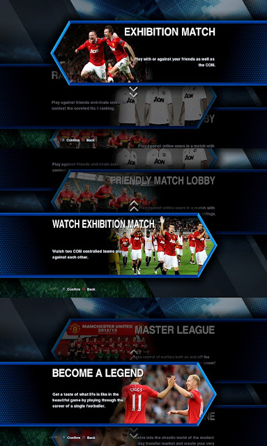 Man. United Submenu Header PES 2013