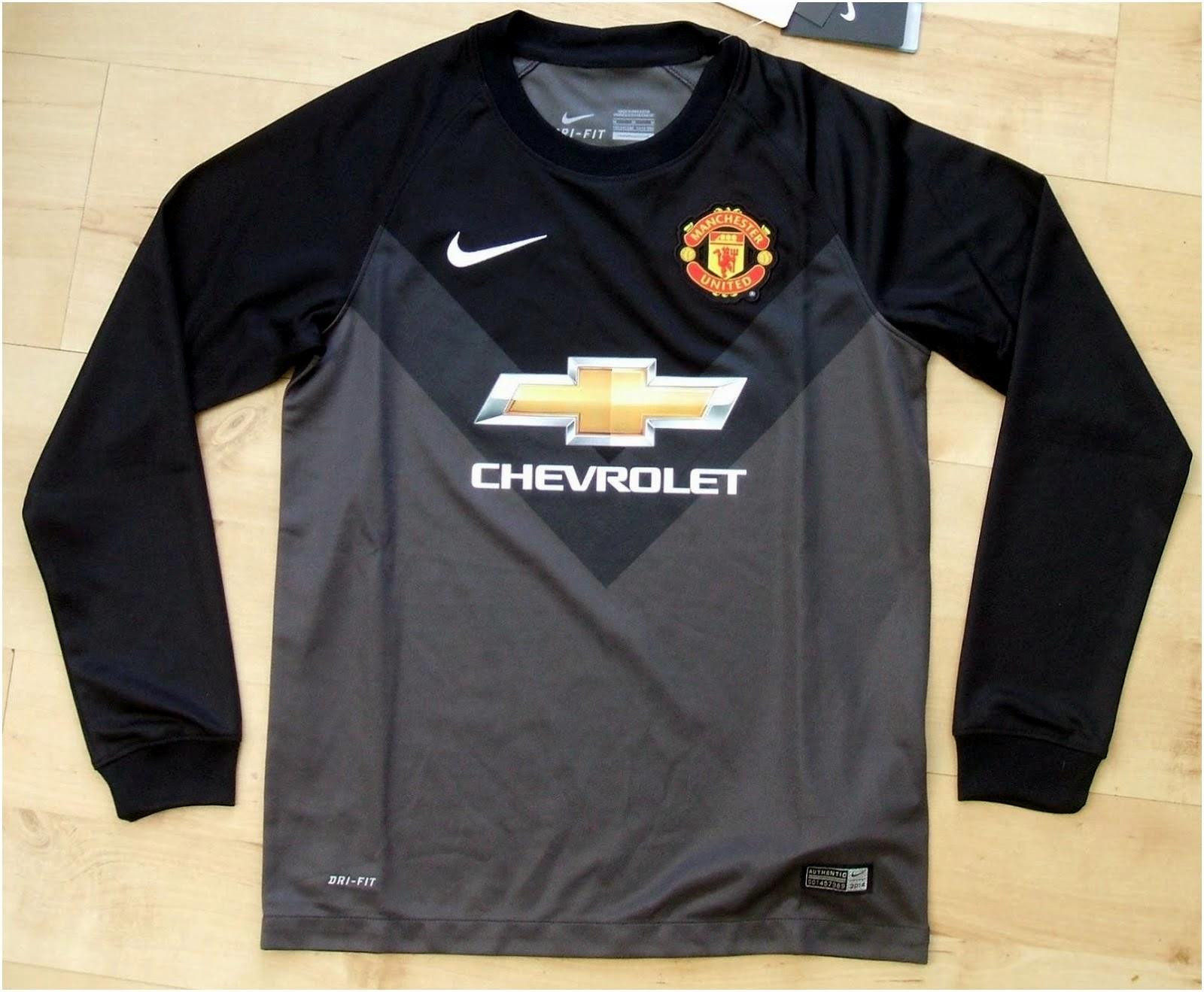 Jersey GO Manchester United Goalkeeper Away Longsleeve Terbaru Official Musim 2014-2015
