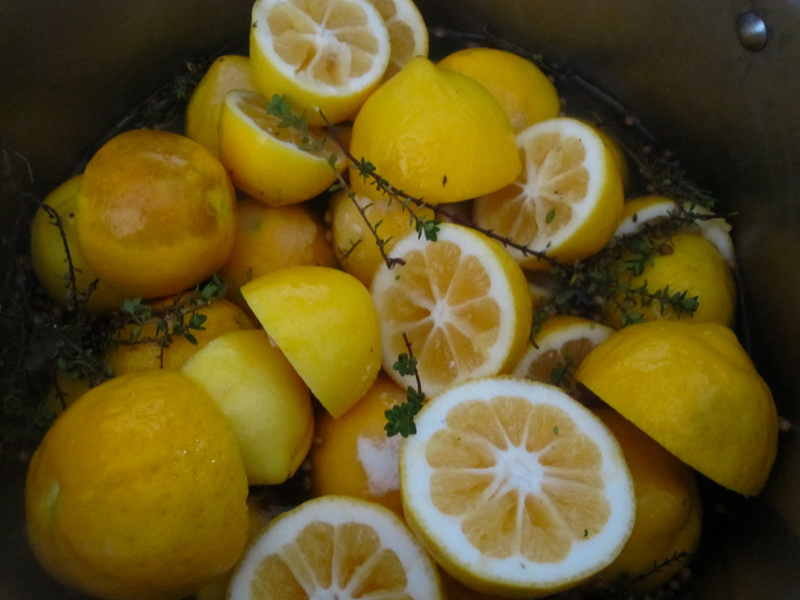 lemons halfway through the first boil lemon confit was not my first ...
