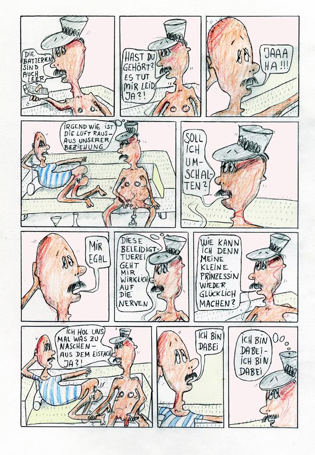 Die Maulreiters, Der Fernsehabend, Comicstrip, 11 Blätter, Strengstes Jugendverbot! Ralph Meiling