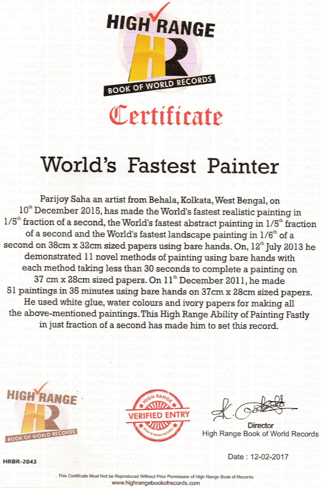 World's Fastest Painter