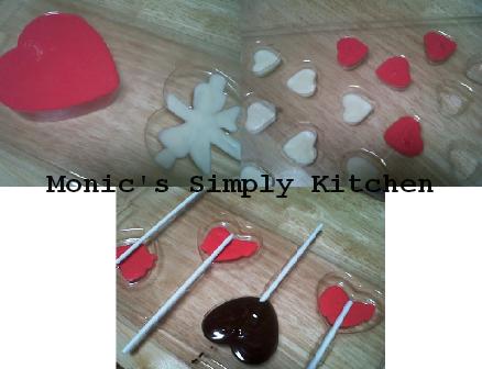 Proses Mengisi Cetakan Coklat valentine