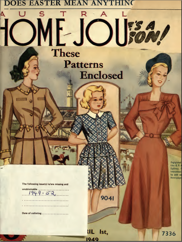 Free Patterns Australian Home Journal 1st April 1949