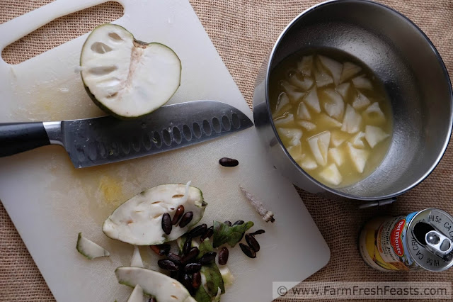 An exotic variation on the traditional Ambrosia or Five Cup Salad--this recipe using Cherimoya in place of pineapple makes this fruit salad extra special for your holiday table.