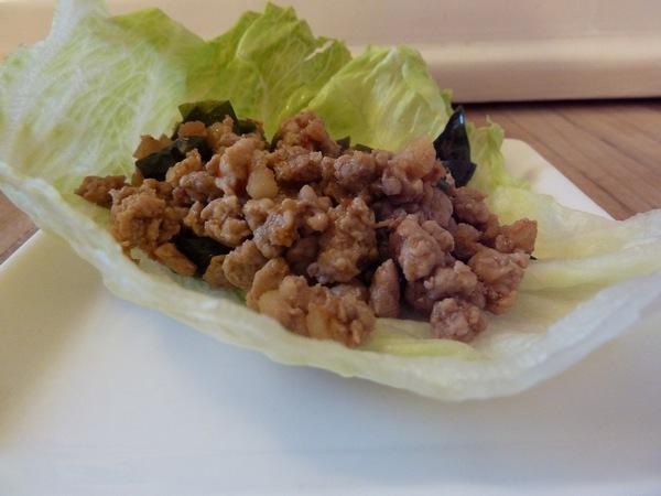 basil pork lettuce wrap