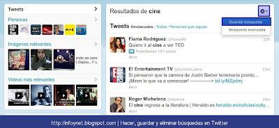 Guardar búsqueda en Twitter