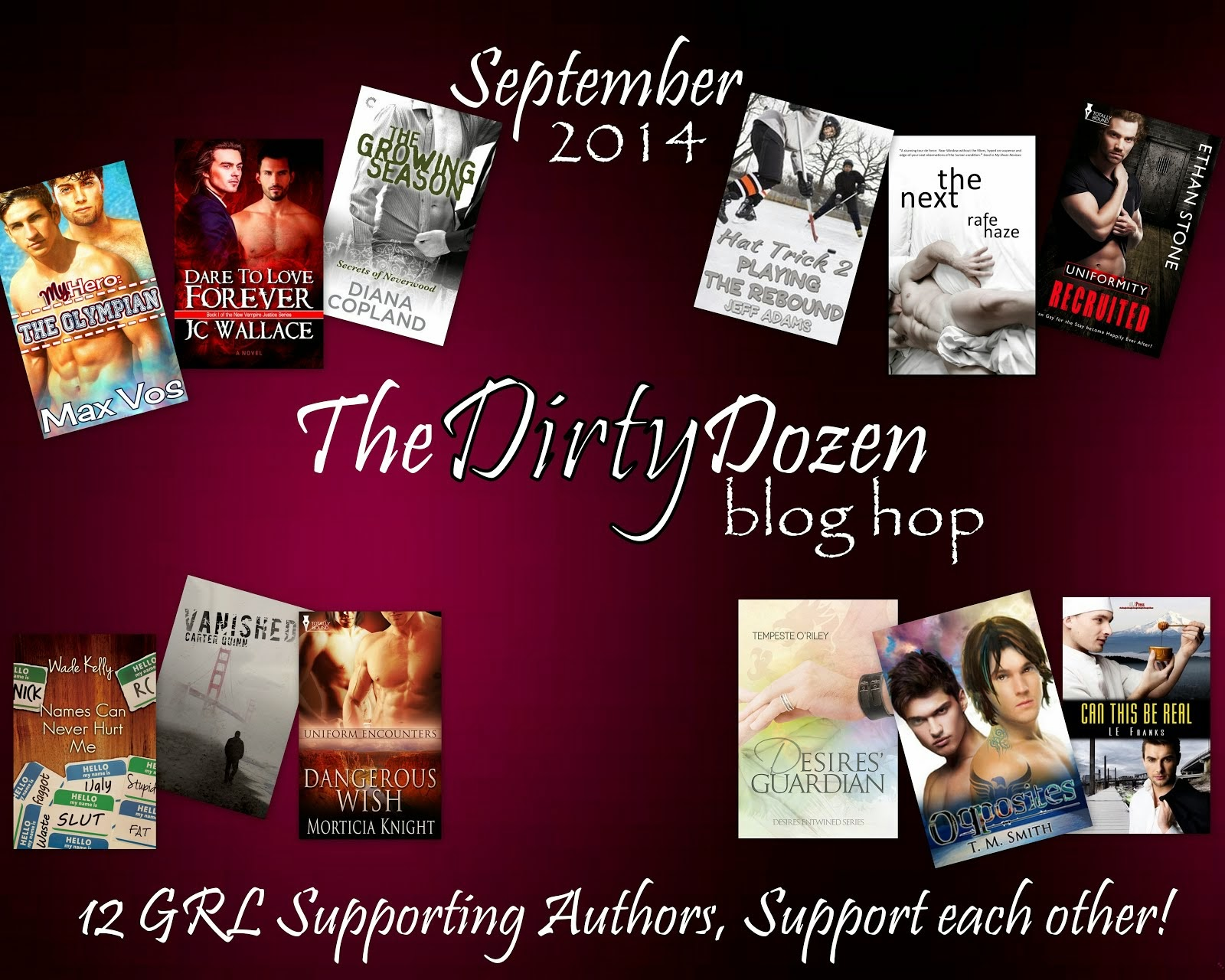 GRL Supporting Authors Dirty Dozen Blog Hop!