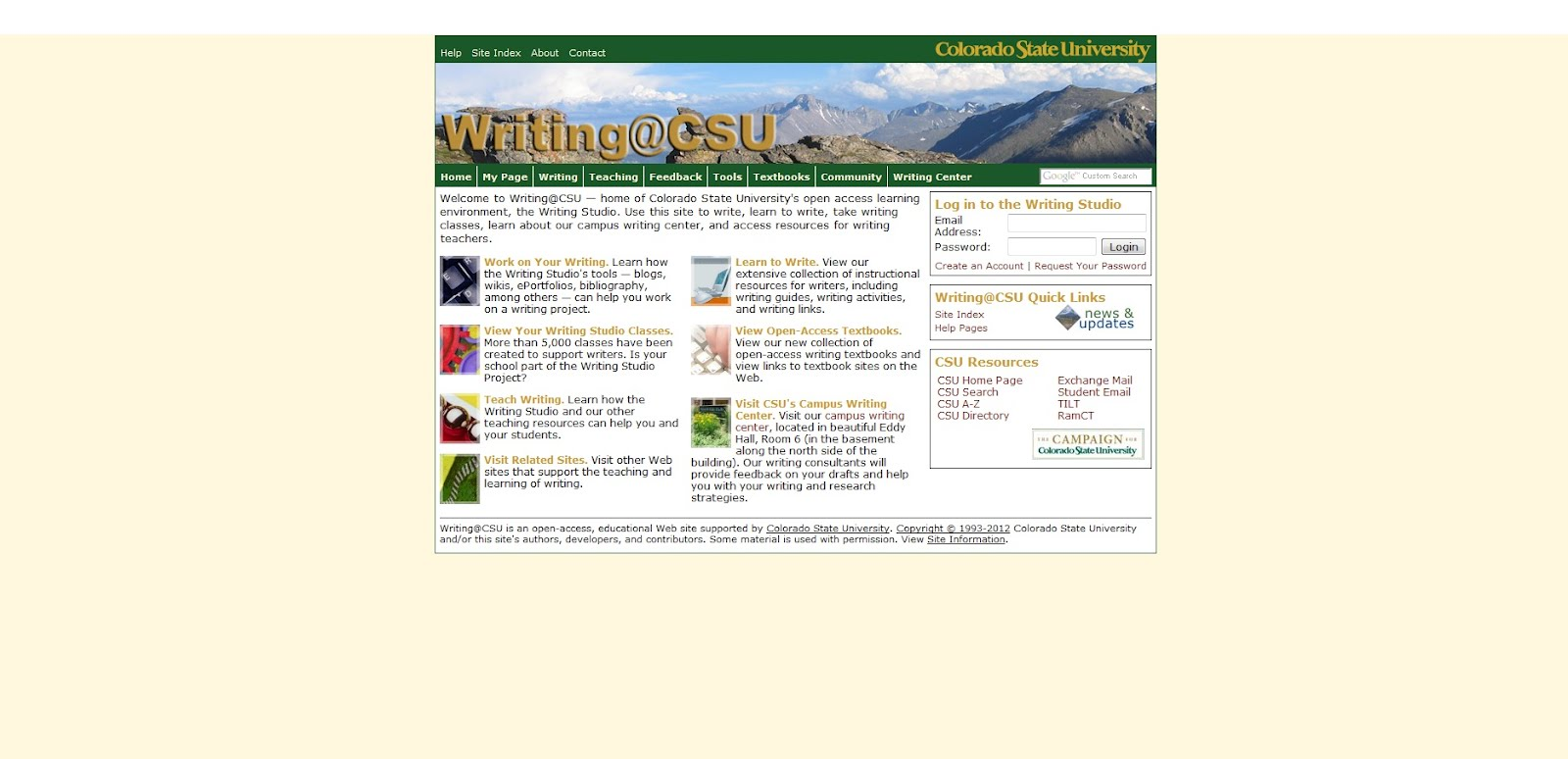 colorado state writing studio Academiaedu is a place to share and follow research colorado state university, english, faculty member.