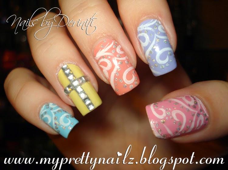 My Pretty Nailz Pretty Pastel Easy Easter Spring Nail Art Design