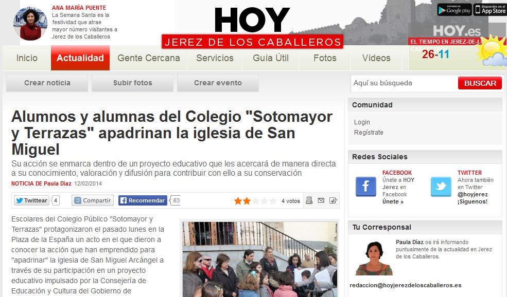 EN EL PERIÓDICO HOY.es