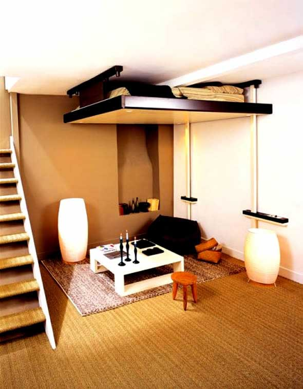 Home interior design ideas make the best out of the interior design of small spaces - Images of beds in small spaces ...