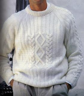 Suéter para Hombres - Rombos y trenzas