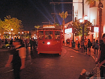 DCA Disney California Adventure Buena Vista Street Red Trolley