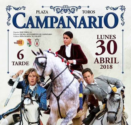 CAMPANARIO - BADAJOZ (ESPAÑA) 30-O4-2018. CORRIDA DE REJONES INTERNACIONAL.