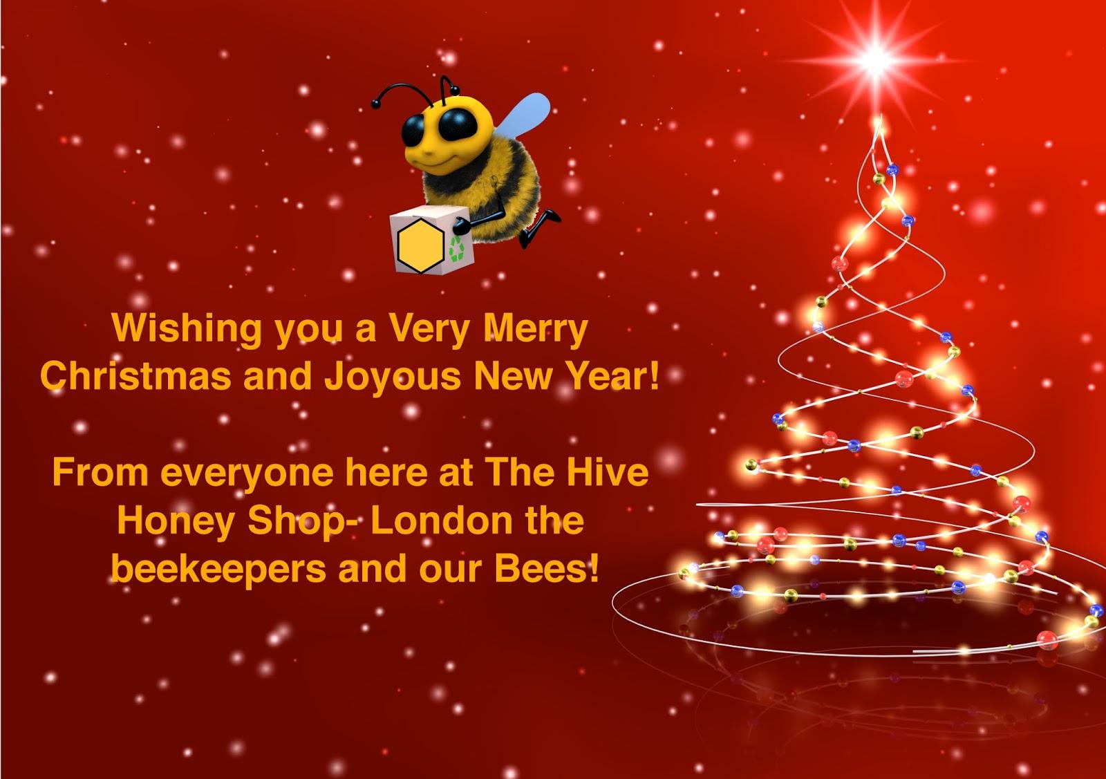Wishing you a Very Merry Christmas. Ho Ho Ho! - The Hive Honey Shop