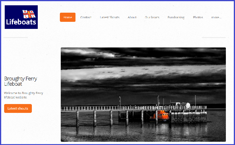 Homepage of the new website for Broughty Ferry Lifeboat.