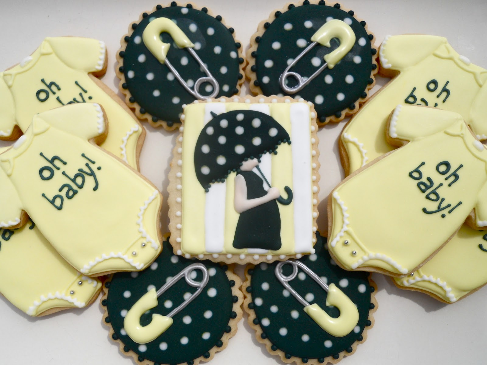 oh sugar events yellow black and white baby shower