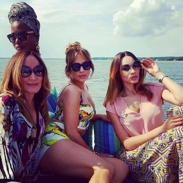 In the running shorts, Jennifer Lopez celebrates birthday in boat trip