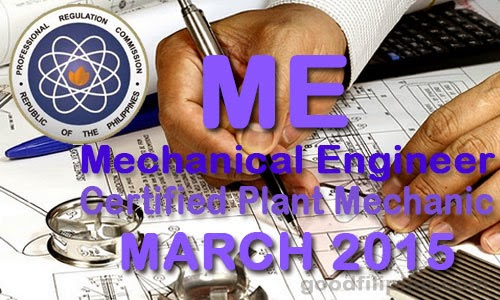 Full List: March 2015 Mechanical Engineer Board Passers - Certified Plant Mechanic Board Results