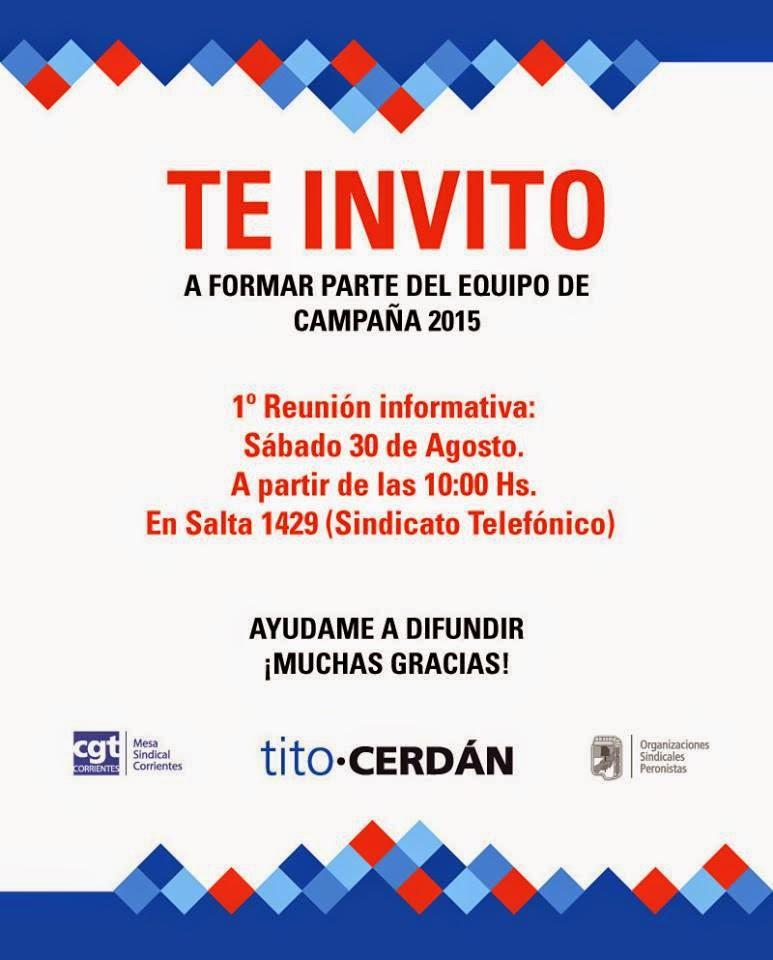 """Equipo de Campaña """"Tito Cerdán"""""""