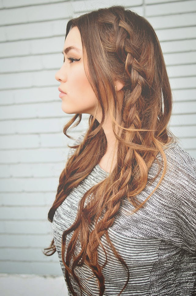 Cute and easy braids via Golden Swank Blog