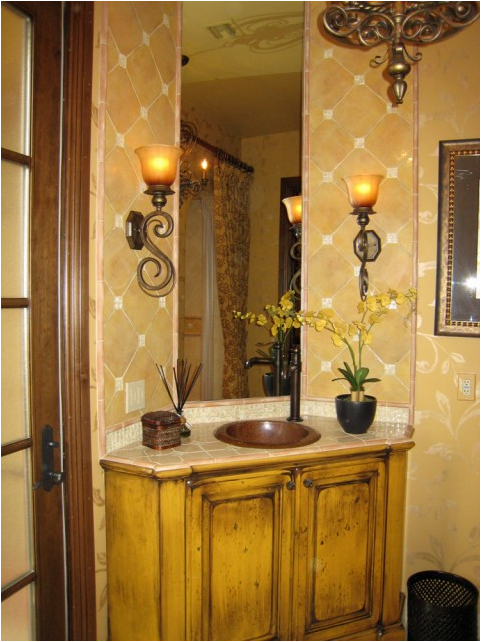 Tuscan bathroom design ideas simple home architecture design for Tuscan design ideas
