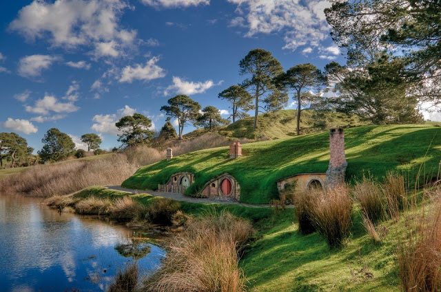 Hobbiton, small town on the north island of New Zealand