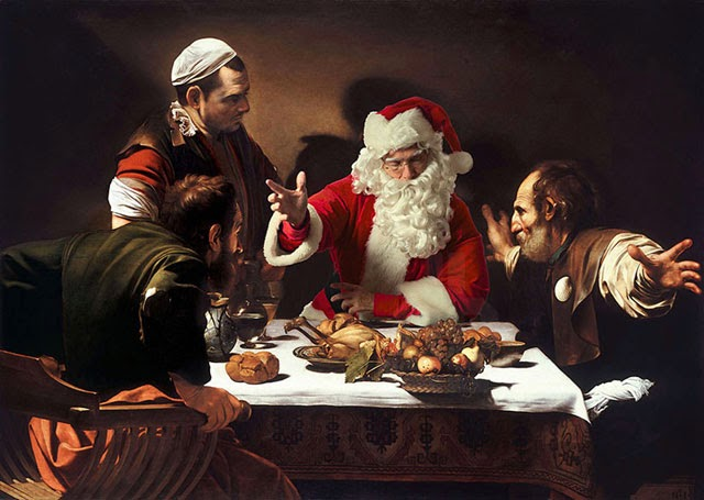 Santa Claus Bussy in Invading Famous Works