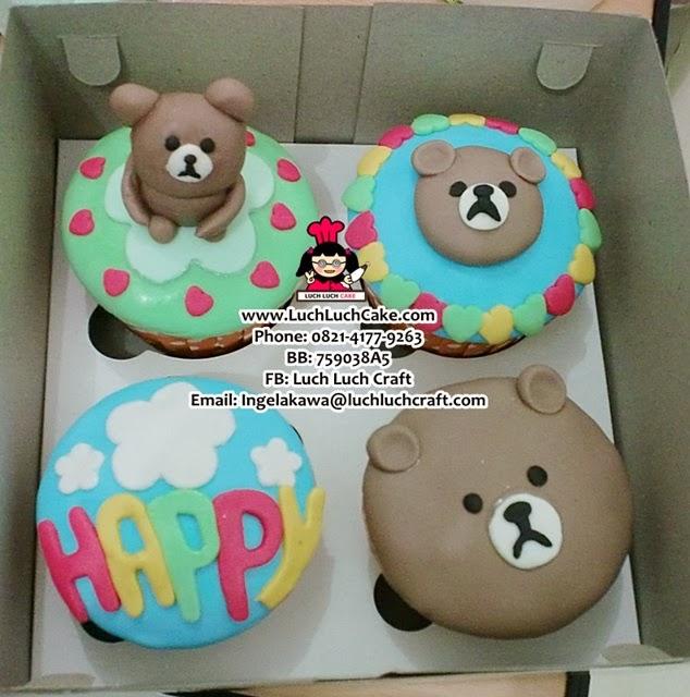 Cupcake Line Bear Surabaya - Sidoarjo