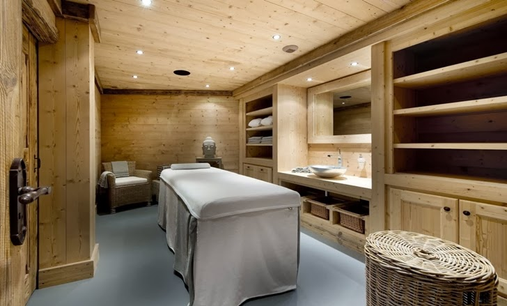 Massage room in ski resort