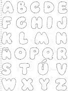 Molde de letras para o Painel do Alfabeto alfabeto