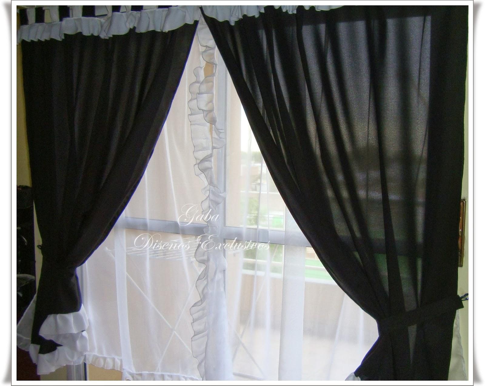 Creaciones cortinas nuevas - Cortinas negras decoracion ...